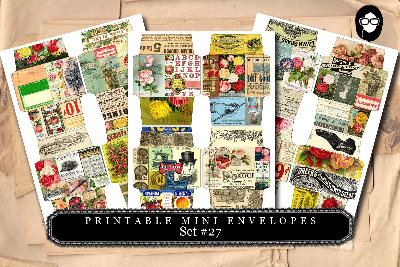 Printable Mini Envelopes 27 3 Page Instant Download Envelope