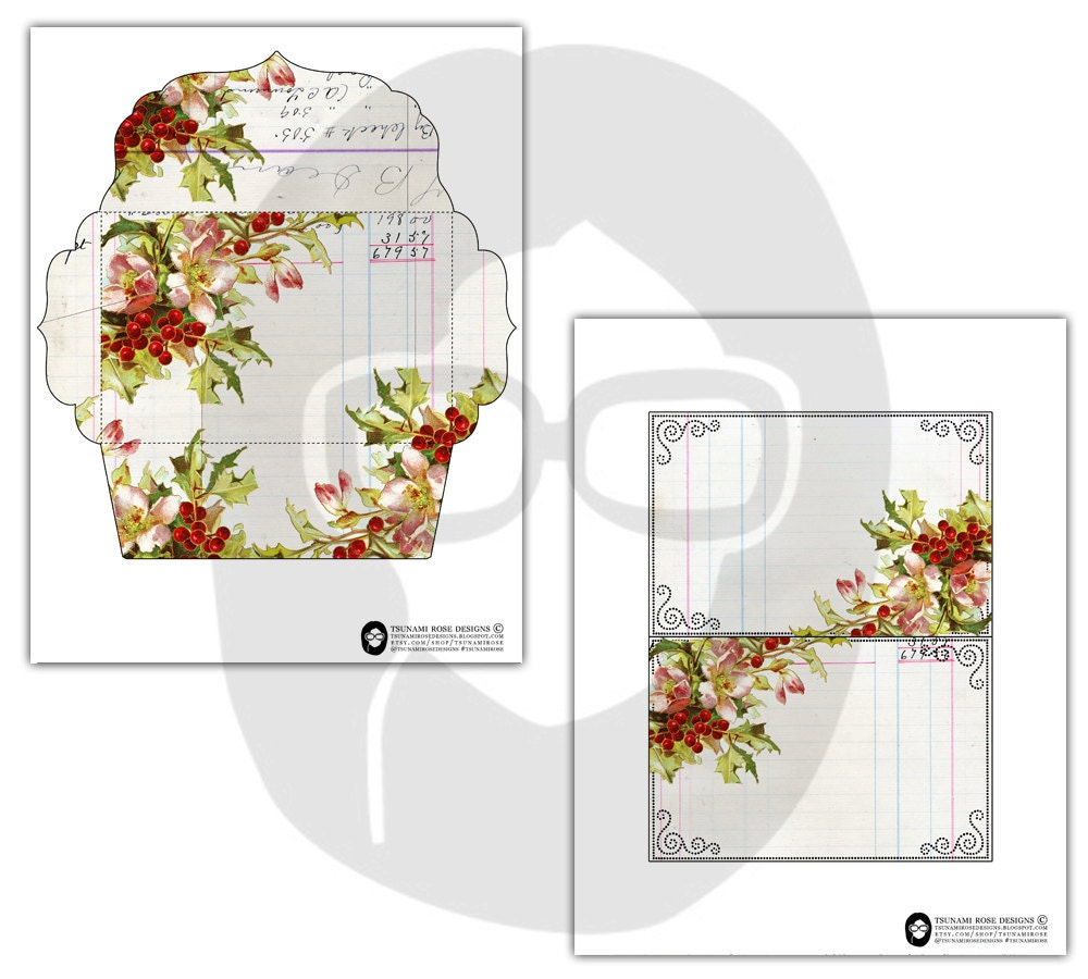 Envelope Templates - Printable Envelope & Insert - Set ...