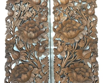 Carved Wood Panel Etsy