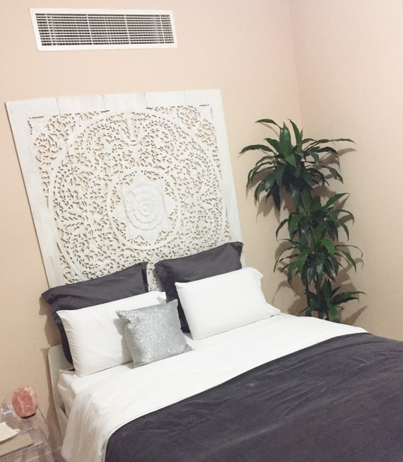 5ft Large Queen Size Bed Bohemian Headboard Mandala Lotus