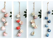 Hand Painting Hanging Ceramic Wall Planters,Wall Hanging Flower Planter ,Hanging Pots,Hydroponics Planter,Air Plant Holder, A set of 4 pots