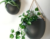 Different sizes, Handcrafted Hanging Ceramic Wall Planters,Wall Hanging Flower Planter,Hanging Pots,Hydroponics Planter,Air Plant Holder