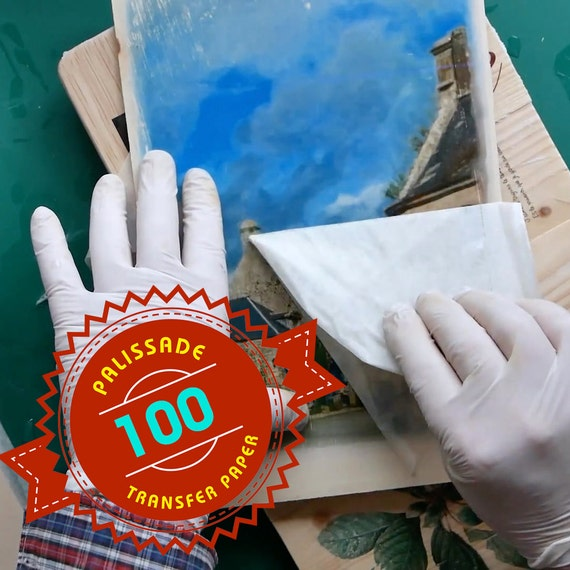 100 sheets of image transfer paper for using on wood canvas etsy