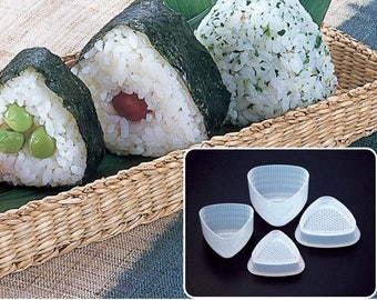 Japan Triangular Rice Ball 7mold, 2 sizes set, kitchen tool, picnic supply, party food supply
