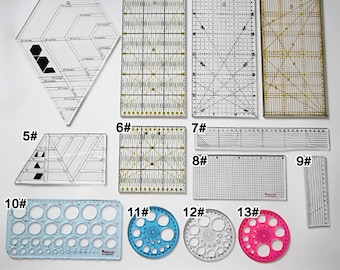 Patchwork rulers, patchwork sewing, sewing rulers, diamond pattern, circle pattern, creative grids, quilt ruler, quilt template