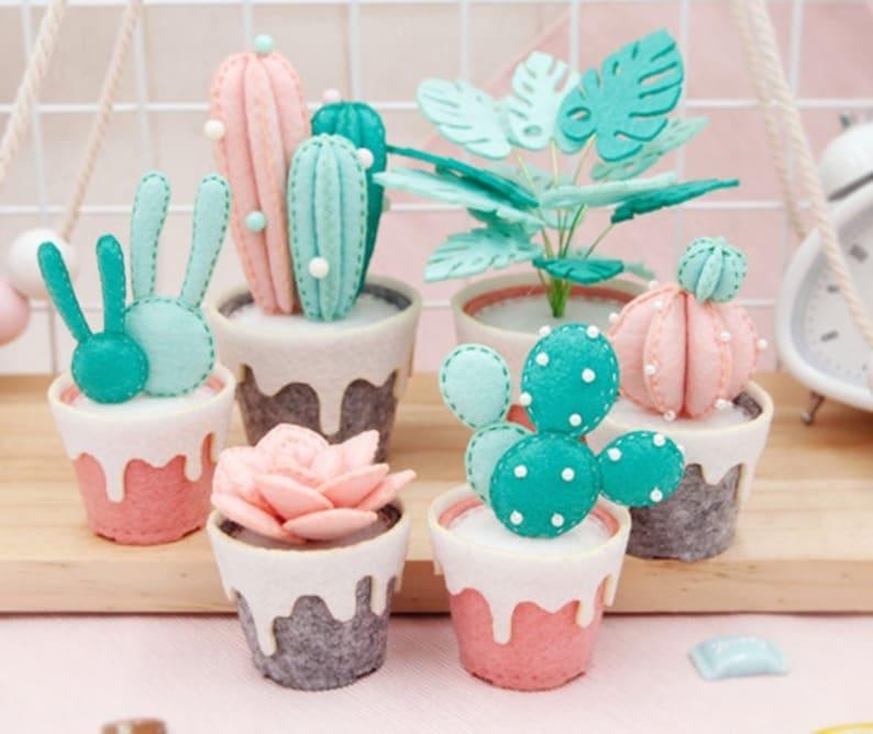 Cactus de fieltro casero
