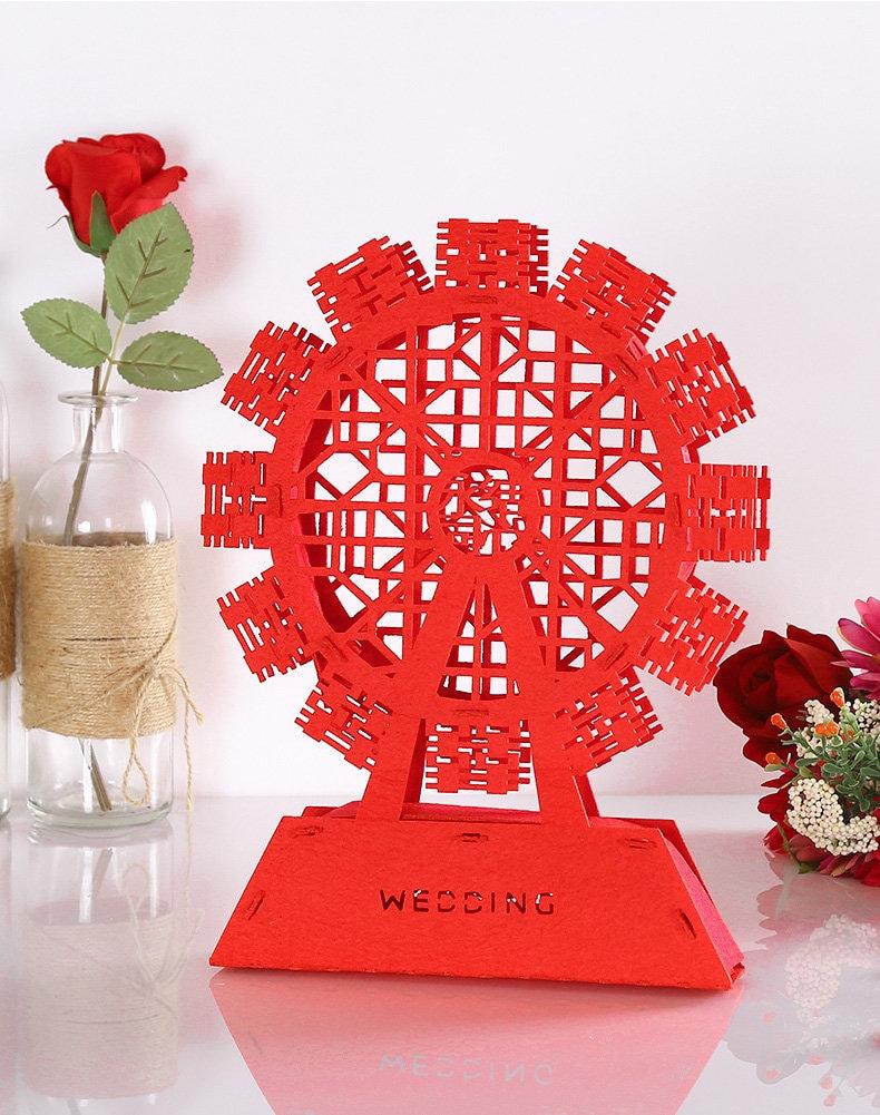 Diy Chinese Wedding Double Happiness Ferris Wheel 3d Ferris Wheel