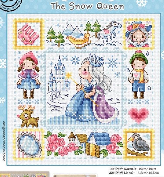 Point De Croix Reine Des Neiges la reine des neiges point de croix moderne motif et kit | etsy