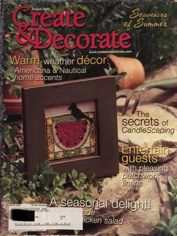 Create And Decorate Magazine August 2006 Etsy