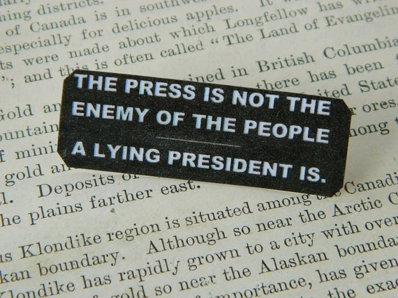 Anti-Trump jewelry The Press is not the enemy, a lying President IS