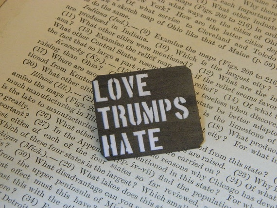 Love Trumps Hate Valentines Day Peace Jewelry Quote Jewelry Cool Hate Valentine Day Quotes