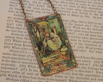 Fairy tale necklace Cinderella  literature literary mixed media jewelry