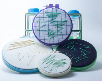 Microbiology Streak Plate Embroidery Hoop Art--Perfect gift for Scientists, Microbiologists, Doctors, Nerds, Geeks Bacteria