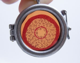 Original Data Necklace by ScienceBee Circular Frame