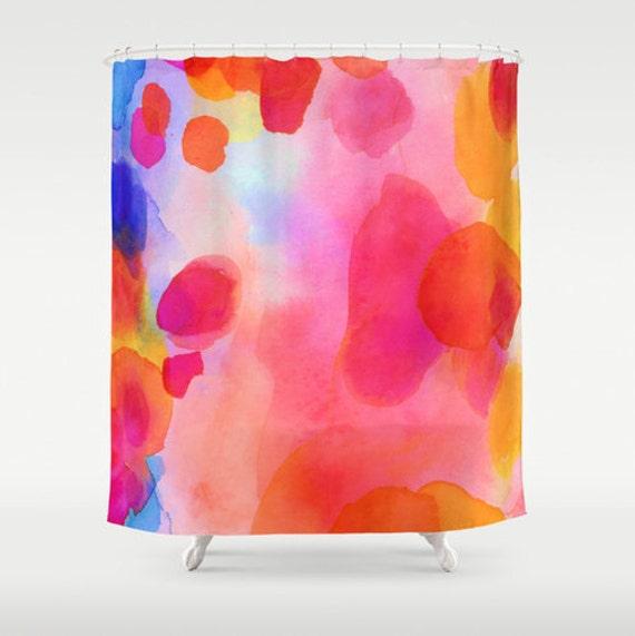 Abstract Painting Shower Curtain Modern Art Bathroom Decor