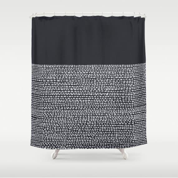 Minimalist Bathroom Items: Minimalist Shower Curtain In Black And White Modern