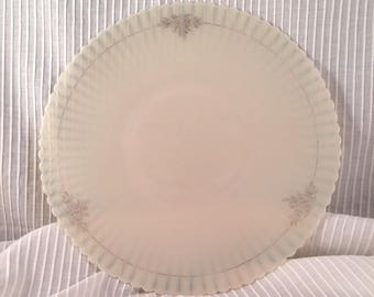 Macbeth Evans Monax Petalware Milk Glass Plate