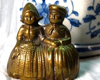 Vintage Dutch Couple Brass Bell