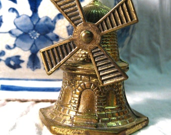 Vintage Brass Windmill Bell Moving Part V2013441