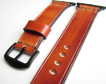 Brown Apple watch strap, watch strap, leather watch strap, apple watch band 38mm