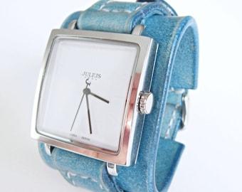 Turquoise Watch Women, wrist watch, Leather watch cuff