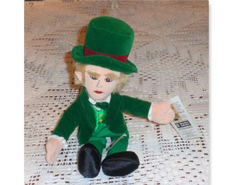 Wizard of Oz bean bag doll new with tags Leprechaun St.Patrick Day Mayor man