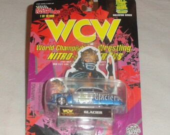 214e3df52f 1998 Racing Champions WCW World Championship Wrestling Nitro Streetrods  GLACIER Vehicle Toy Car Unopened 1 of 19