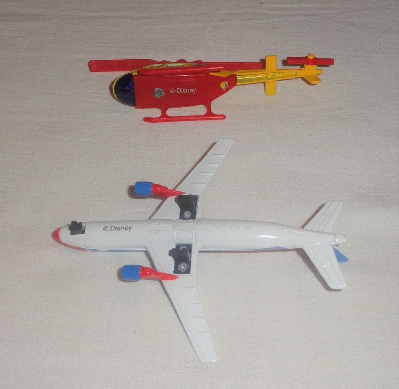 RARE Disney GOOFY Figure W Die Cast Metal /& Plastic Airplane Helicopter Toys Set