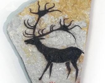 Lascaux Deer cave painting on stone Magnet