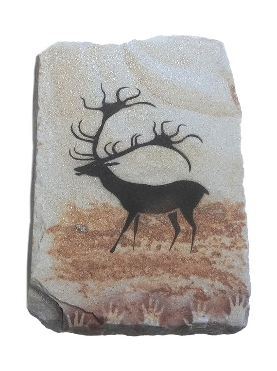 Lascaux Horse cave painting on hanging stone