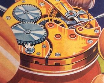 Vintage 1950s PRACTICAL MECHANICS Magazine Fifties Electronics Clock Science Steampunk  Cogs