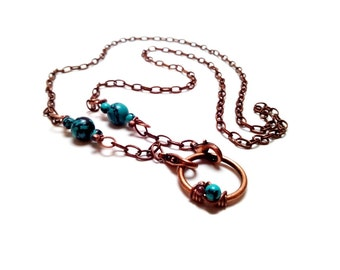 Turquoise and Copper Eyeglasses Chain 4 in 1 Jewelry Eyeglasses Lanyard Sunglasses Accessories Reading Glasses Chain Eyeglasses Holder
