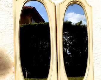 Vintage Mirror Set Antique Palm Beach Island Home Decor