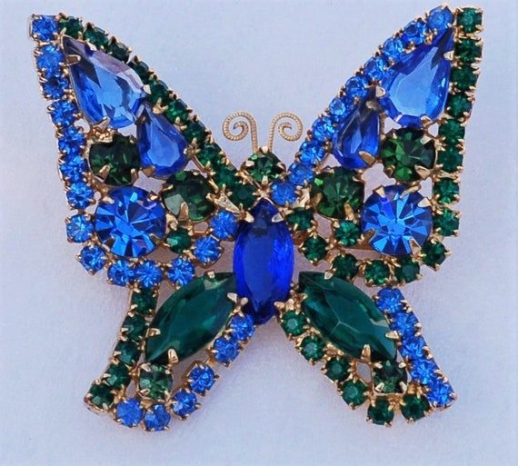 WEISS Capri Blue Emerald Green Butterfly Insect Go