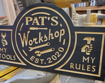 Med.Rustic Metal Papas Garage Sign//Free Shipping//Father/'s Day//Gift for him//Shop