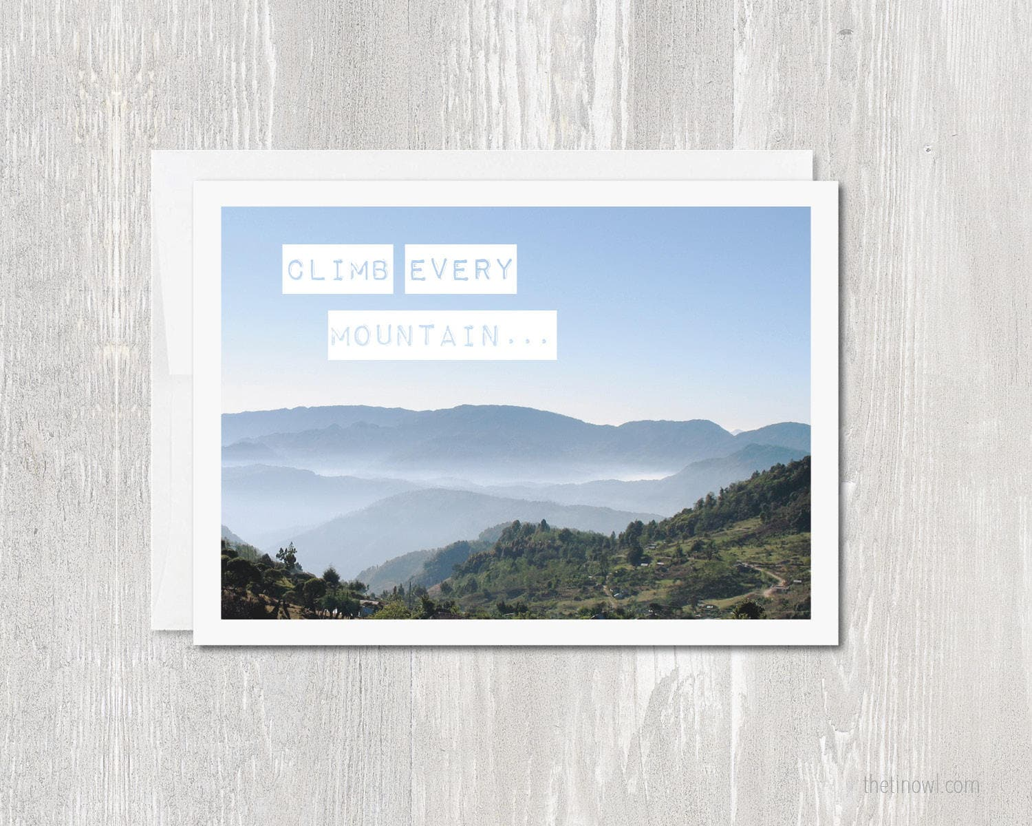 Greeting Card Thinking Of You Climb Every Mountain Sound Etsy