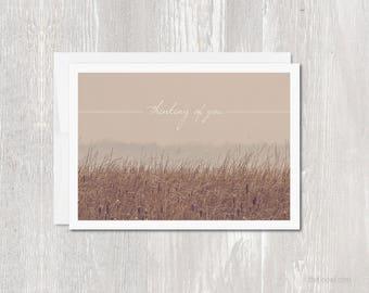 Greeting Card | Thinking of You | Sympathy | Blank Inside