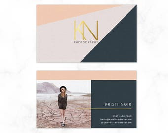 Modern Business Card Template - Moo Card Template - Photoshop Template - Business Card - Calling Card - Fashion Photographer - Digital File
