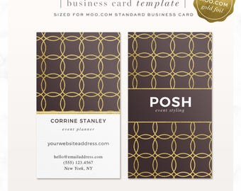 Moo business card etsy gold foil business card template moo template moo gold foil photoshop template modern circle card event planner business digital reheart Choice Image