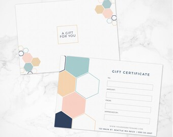 chalk gift certificate template chalk template gift card etsy