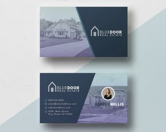 Immobilier Carte De Visite Photoshop Modele Pour Les Petites Entreprises Et Des Agents Immobiliers