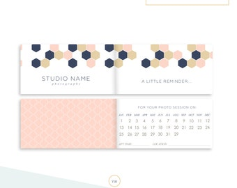 session reminder card appointment reminder client correspondence packaging photography marketing modern geometric sku ar002