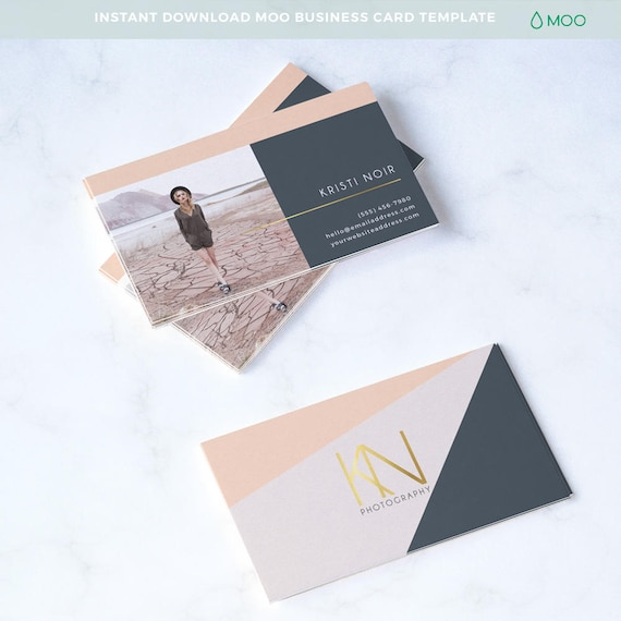 Modern business card template moo card template photoshop etsy 50 accmission Choice Image