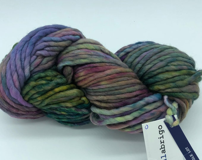 Malabrigo Rasta Yarn + Knitting Pattern, Super Bulky, 100%  Merino Wool, Single Dye lot