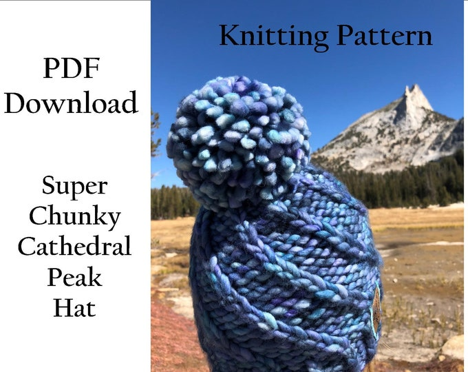 Hat Knitting Pattern - Super Chunky Hat - Super Bulky Hat - Malabrigo Rasta Hat Pattern -Easy Knitting Pattern - PDF download