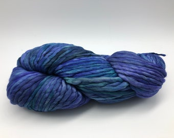 Malabrigo Rasta Yarn + Hat Knitting Pattern, Super Bulky, 100% Merino Wool, Azules 856