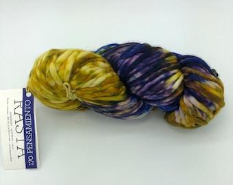 Malabrigo Rasta Yarn + Knitting Pattern, Super Bulky, 100%  Merino Wool, Pensamiento 170, Pintada Collection