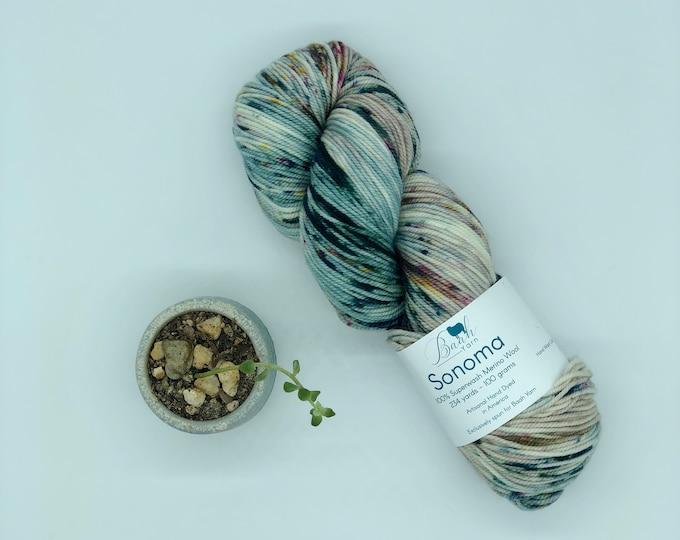 Baah Yarn Sonoma,  Dk weight, 100% Superwash Merino Wool, Blue Magic