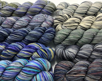 Koigu KPM paint pack, 10 pack, Clay, fingering weight yarn
