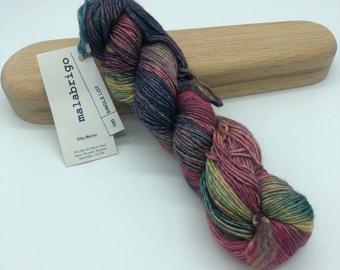 Malabrigo Silky Merino, Dk weight yarn, single lot